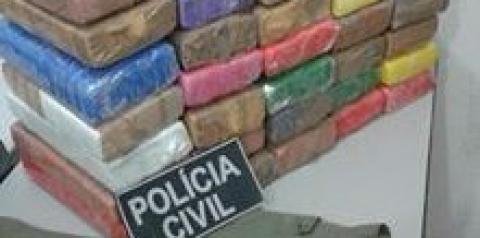 Polícia Militar prende homem com 40 quilos de maconha na divisa da Bahia com o Piauí