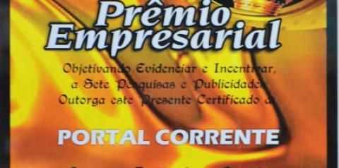 Portal Corrente recebe prêmio Destaque Empresarial