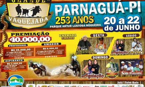 Começa hoje a tradicional Vaquejada de Parnaguá!