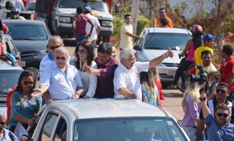 Candidato Wellington Dias realiza carreata em Corrente e participa de comício em Cristalândia