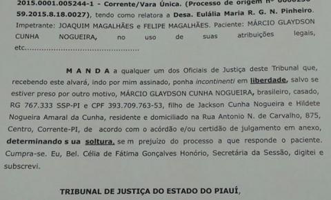 Tribunal de Justiça concede habeas corpus a acusado de comandar esquema de fraudes em empréstimos consignados em Corrente
