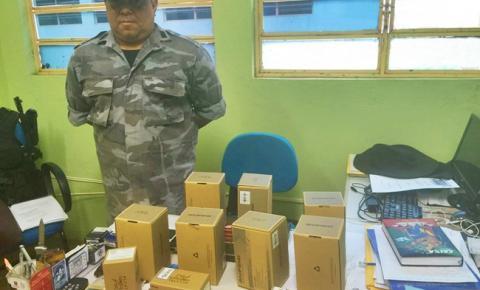 7º Batalhão de Polícia Militar de Corrente recebe doação de celulares e rádio