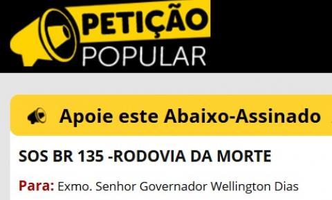 Mortes deste sábado geram revolta e população do extremo-sul do Piauí inicia abaixo-assinado por melhorias na BR 135