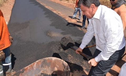 Governador Wellington Dias e vice-governadora Margarete Coelho inauguram e visitam obras em Corrente