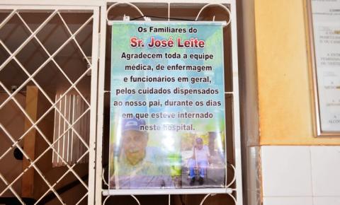 Família de paciente presta homenagem ao Hospital Regional de Corrente