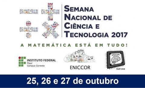 IFPI Corrente promove a Semana Nacional de Ciência e Tecnologia a partir desta quarta-feira (25)
