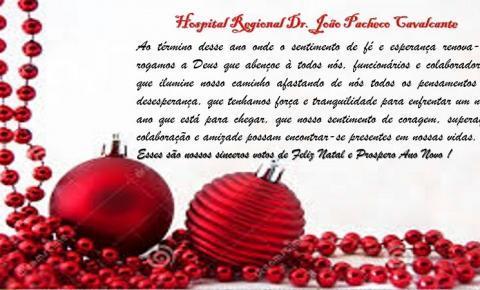 Mensagem de Natal do Hospital Regional Dr. João Pacheco Cavalcante