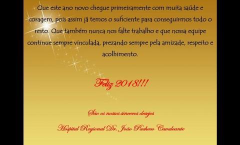 Hospital Regional de Corrente deseja Feliz Ano Novo!