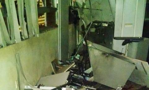 Quadrilha explode caixas eletrônicos da agência do Banco do Brasil de Gilbués