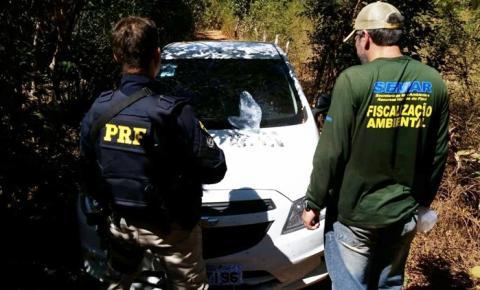 PRF, Policia Civil, SEMAR e Secretária de Fazenda desativam garimpo clandestino de exploração de diamante em Gilbués