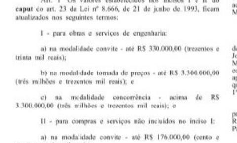 Alteração na Lei de Licitações do Governo Federal desburocratiza andamento de projetos