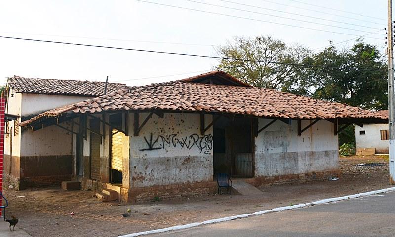 Mercado municipal abandonado