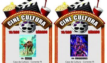 Neste sábado tem cinema na Casa da Cultura de Corrente