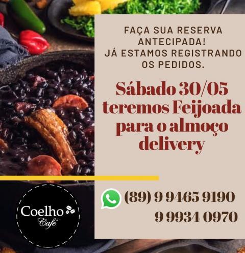 Neste sábado tem Feijoada no Almoço Delivery do Coelho Café!