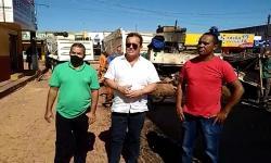 Henrique Pires encontra lideranças políticas e acompanha o início das obras de pavimentação em Gilbués