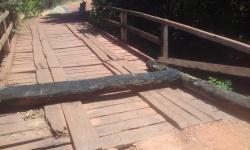 Ponte interditada na Vereda da Porta