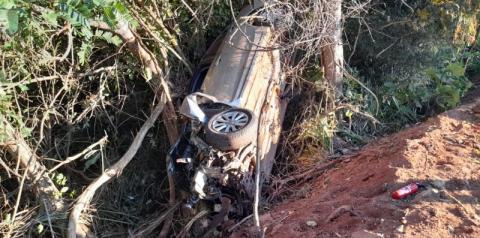 Casal de bombeiros de Goiás, que fazia viagem à Jericoacoara/CE, sofre acidente na BR 135 em Cristalândia do Piauí