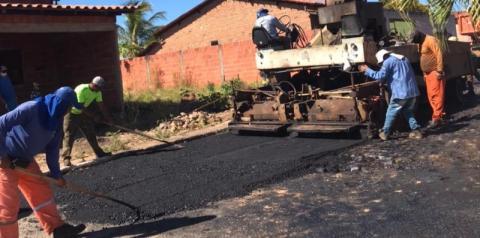 Pavimentação asfáltica contemplará 14 mil metros quadrados em Sebastião Barros
