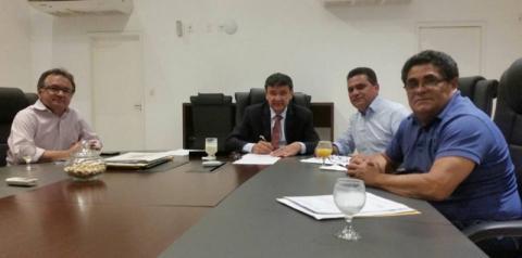 Prefeito Betim reúne-se com o governador Wellington Dias