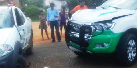 Viatura do GMP de Parnaguá se envolve em acidente