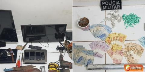 Polícia Militar prende traficante e apreende drogas em Monte Alegre na manhã desse sábado