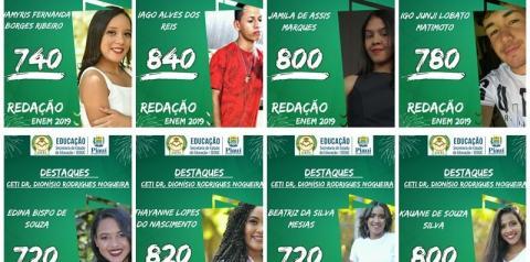Direção do CETI Dionísio Rodrigues Nogueira comemora desempenho de alunos na redação do ENEM 2019