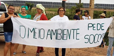 População de São Gonçalo do Gurgueia interdita canteiro de obras da Usina Solar São Gonçalo
