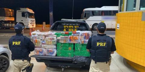 PRF apreende 151 kg de maconha em ônibus interestadual em Floriano