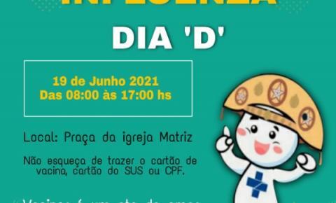 Sábado (19) será o Dia D da vacinação contra a Influenza no município de Sebastião Barros