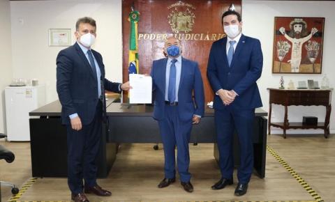 OAB busca desagregação das Comarcas de Curimatá, Redenção e Angical em reunião com o Presidente do TJ-PI