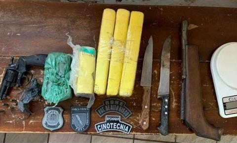 Polícias Civil e Militar deflagram operação em Redenção do Gurgueia e prendem dois traficantes