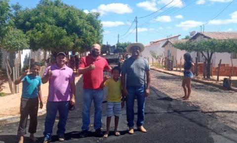 Bairro Vila Nova em Gilbués é contemplado com pavimentação asfáltica