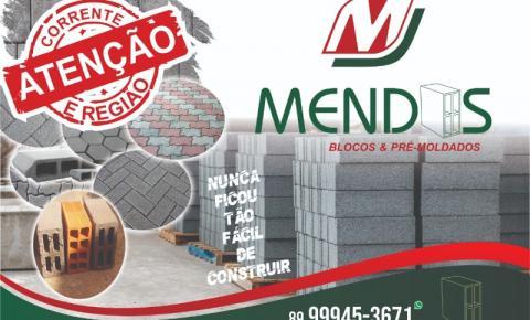 Novidade em Corrente: Mendes Blocos e Pré-Moldados com o melhor preço da região!