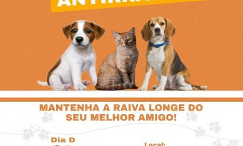 Em Sebastião Barros terá vacinação antirrábica de cães e gatos nesta terça