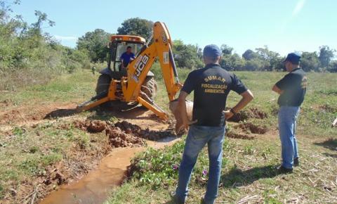 Superintendência de Meio Ambiente fecha desvio do Rio Paraim