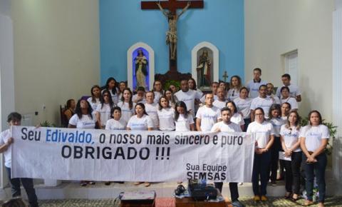 Homenagens marcam a missa de sétimo dia de falecimento do ex-secretário de Saúde de Corrente, Edivaldo Cavalcanti Reis
