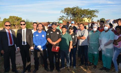 Polícia Técnico-Científica do Piauí realiza exumação de corpos em Corrente