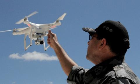 PM de Picos usa drones no combate a crimes