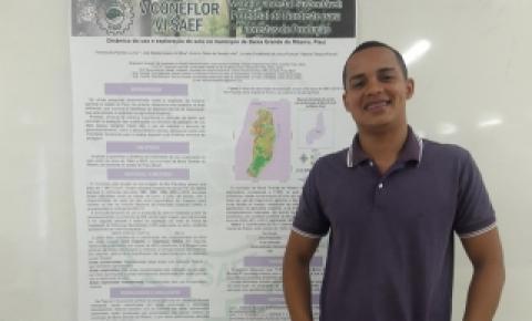 Aluno do IFPI de Corrente recebe prêmio em Congresso Nordestino de Engenharia Florestal