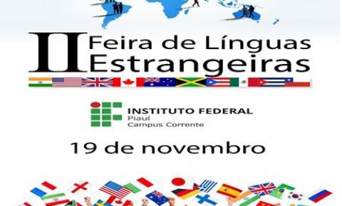 IFPI Corrente realiza Feira de Línguas neste sábado (19)