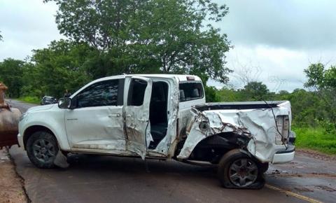 Mulher morre em acidente na BR 135 entre Gilbués e Monte Alegre