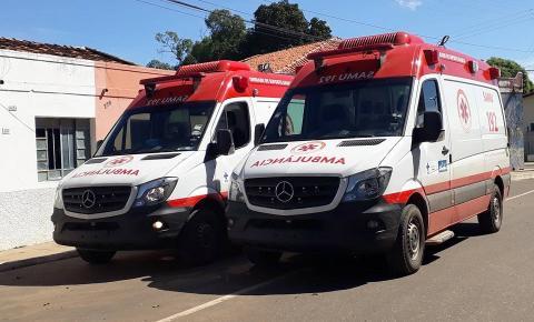 SAMU de Curimatá recebe duas novas ambulâncias do Ministério da Saúde