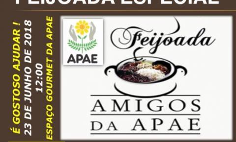 Com apenas 15 reais você ajuda a APAE de Corrente e ainda saboreia uma deliciosa feijoada neste sábado