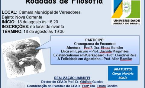 Universidade Federal/UAB promovem Rodada Filosófica nesse sábado em Corrente