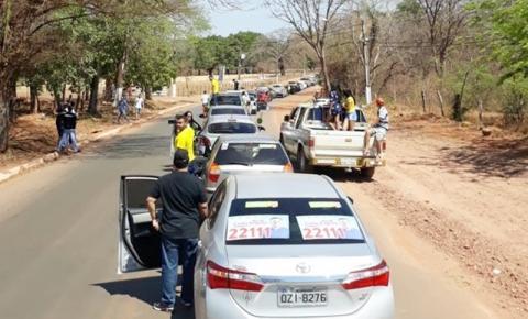 Mega carreata de apoio ao presidenciável Jair Bolsonaro é realizada em Corrente