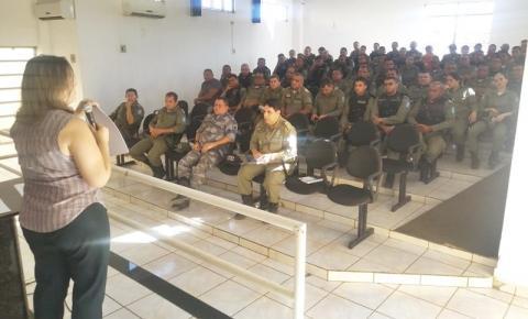 Policiais Militares do 7º BPM recebem orientações do Ministério Público sobre as eleições deste domingo