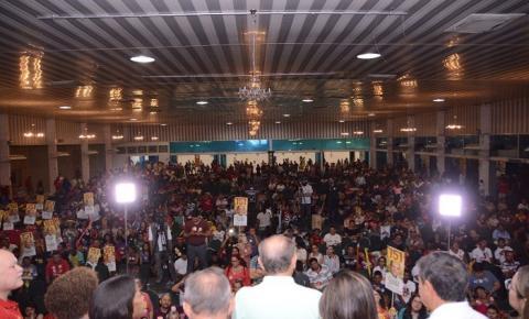 Marcelo Castro se emociona ao reunir milhares de pessoas em plenária com Wellington Dias