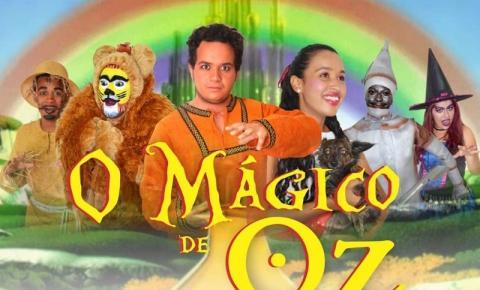 O espetáculo O Mágico de Oz será apresentado neste domingo na Casa da Cultura de Corrente