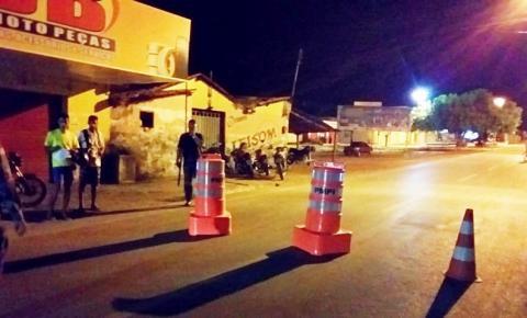 7º Batalhão de Polícia Militar realiza ação de fiscalização em Corrente e Riacho Frio