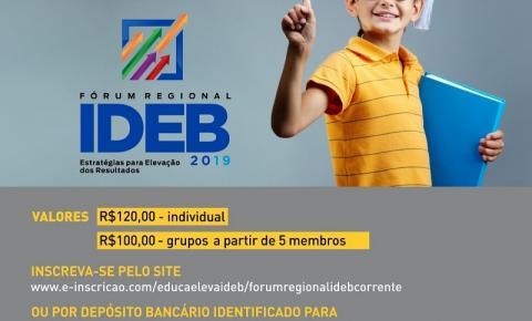 Corrente sediará Fórum Regional Ideb 2019 – Estratégias para Elevação dos Resultados